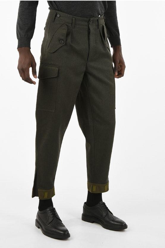 Loewe Pantalone Cargo in Lana a Vita Regolare taglia 46