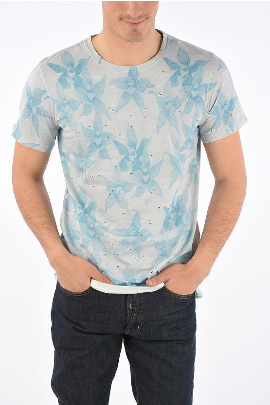 balmain t-shirt a fiori taglia m