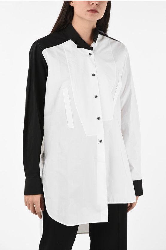 Loewe camicia asimmetrica con Colletto Wingtip taglia S