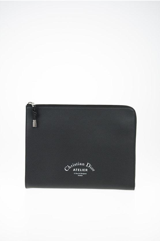 Christian Dior Porta Ipad con logo in pelle taglia Unica