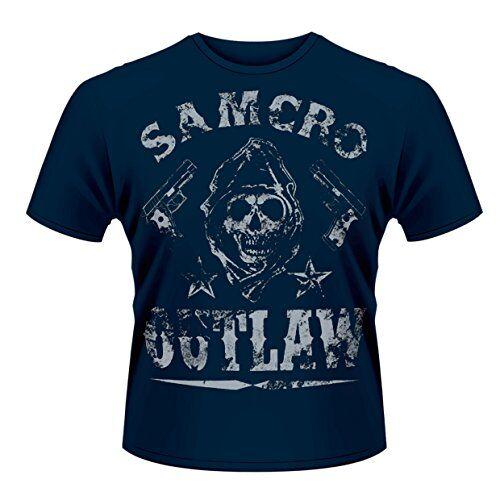 Head Plastichead - Sons of Anarchy Outlaw, Musica e Film da Uomo, Manica Corta, Blu(Blau - Blue), S