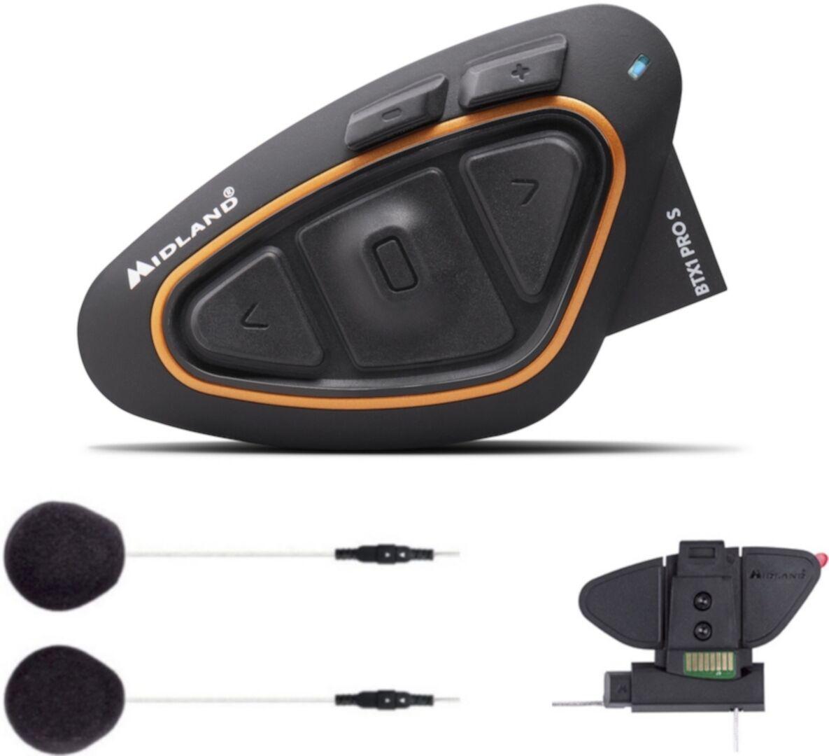 Midland BTX1 Pro S Bluetooth Sistema di comunicazione pacchetto sin... Nero unica taglia