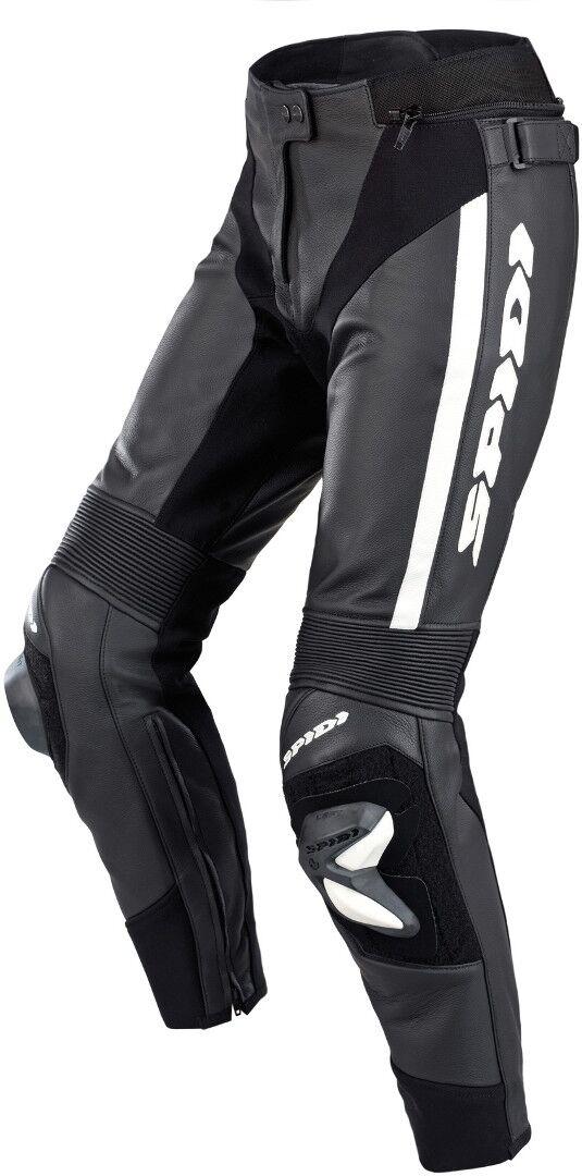 Spidi RR Pro 2 Pantaloni in pelle di moto da donna Nero Bianco 48