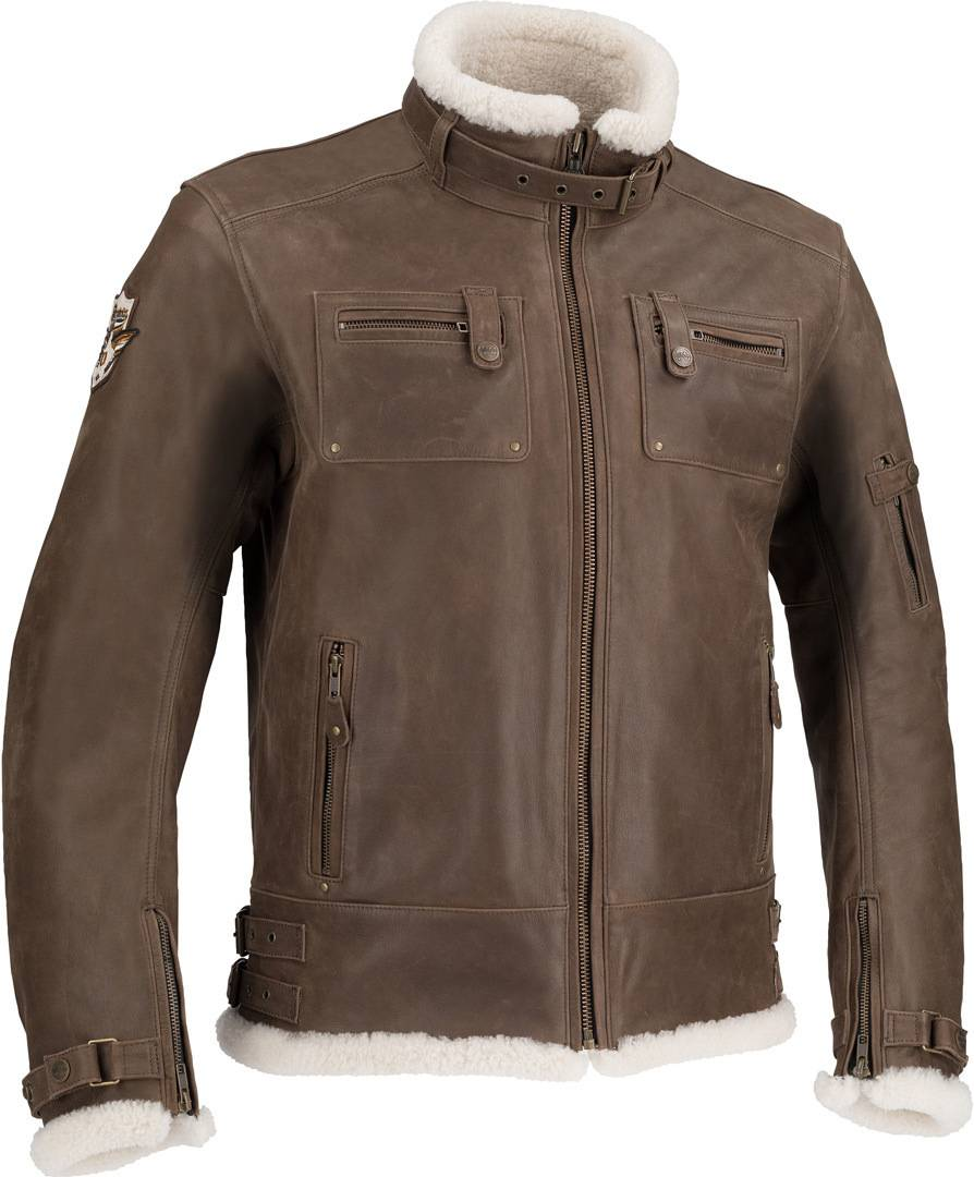 Segura Patriot Giacca in pelle Marrone 3XL