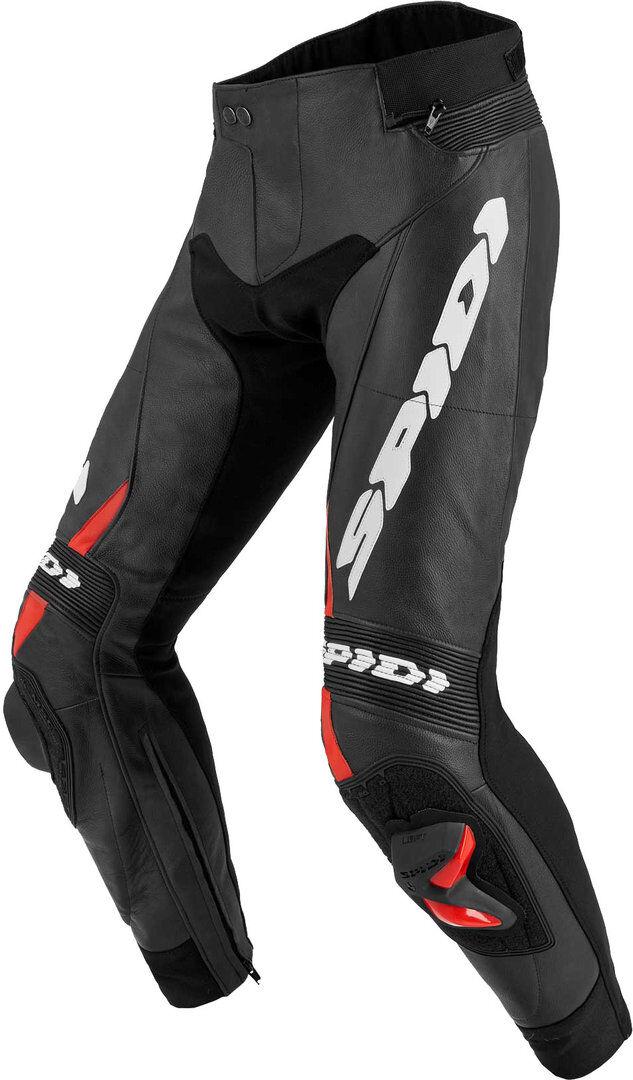 Spidi RR Pro 2 Pantaloni in pelle moto Nero Rosso 54