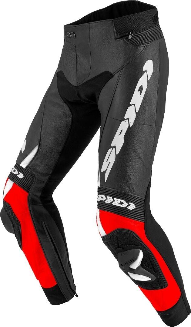 Spidi RR Pro 2 Pantaloni in pelle moto Nero Bianco Rosso 50
