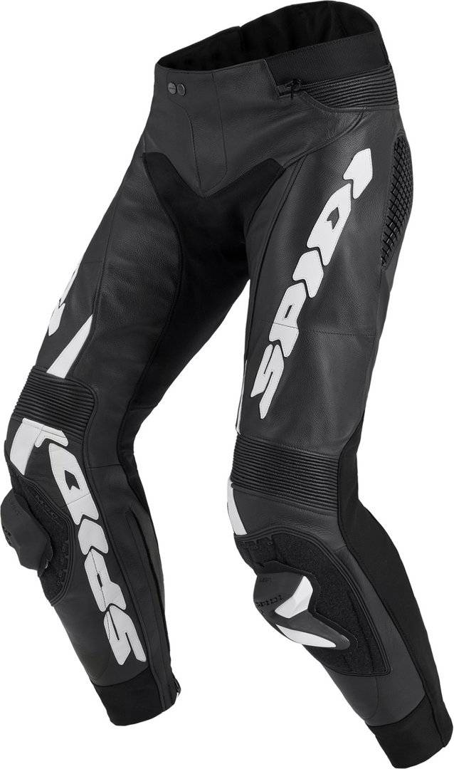 Spidi RR Pro Warrior Pantaloni in pelle moto Nero Bianco 56