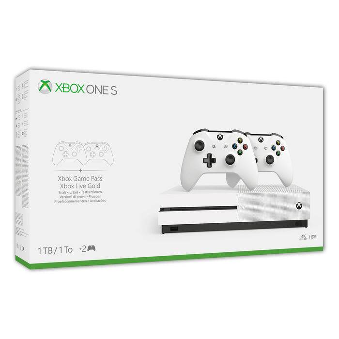 Microsoft Xbox One S 1TB + 2 Controller