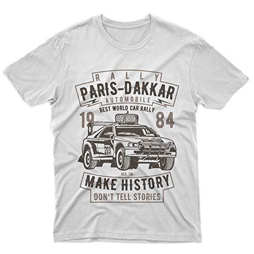 fm10 t-Shirt Rally Paris Dakar Automobile Sport Deserto Auto Moto Gift Motori (M Uomo)