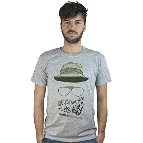 Doctor Music Shirt T-Shirt Paura e delirio a Las Vegas, Maglietta Grigia, Film culto, Cult Movie