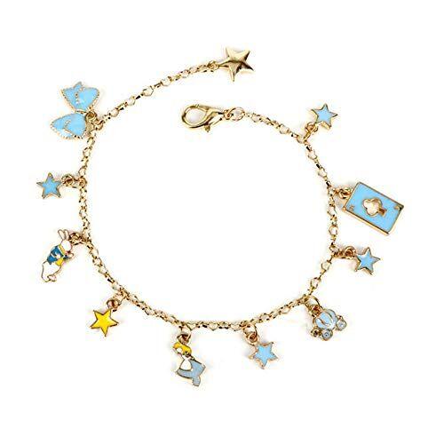 JFFM accessori moda braccialetto gioiello femminile simpatico coniglio campana braccialetto Alice nel paese delle meraviglie imitazione braccialetto di perle regalo di San Valentino