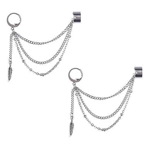 GOTH Perhk Kpop BTS Bangtan Boys V orecchini coreani moda gioielli accessori per uomini e donne 1 paio e Lega, colore: No Pierced Ears, cod. }63)80}64414529 * 2