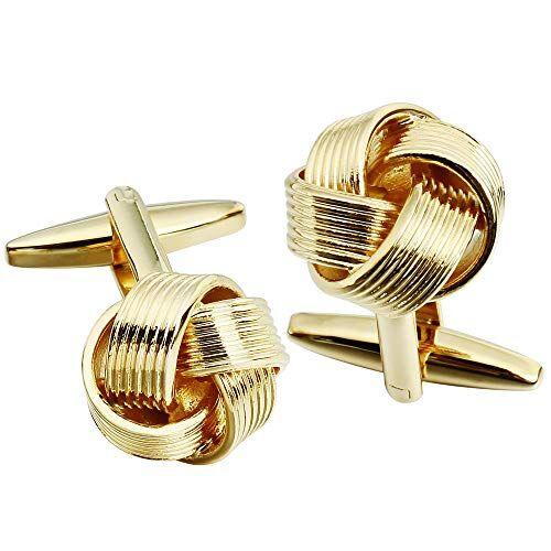 HAWSON alla Moda Uomo Camicia Accessori Gemelli Nodo Pulsante Manica per Festa di Nozze (Oro)