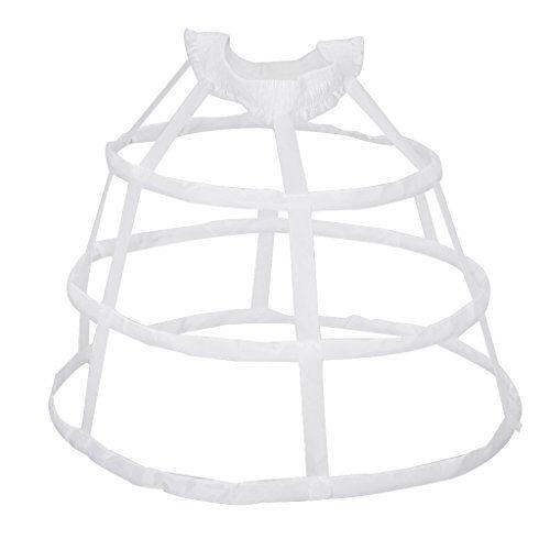 IPOTCH Crinolina Sottogonna Strato Anello Accessorio Moda Per Regalo Donna Ragazza - Piccolo bianco, 100 cm