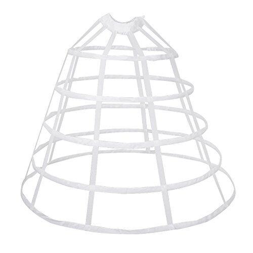 IPOTCH Crinolina Sottogonna Strato Anello Accessorio Moda Per Regalo Donna Ragazza - Bianco grande, 100 cm