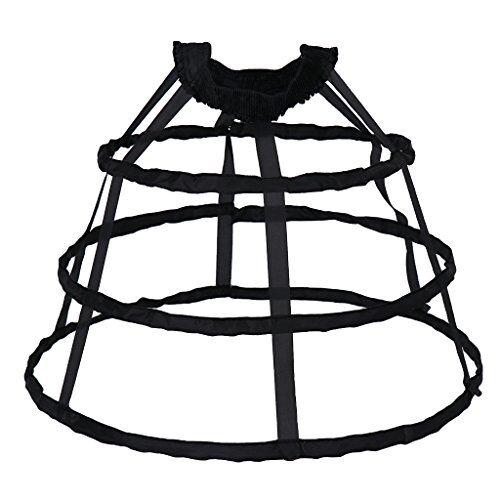 IPOTCH Crinolina Sottogonna Strato Anello Accessorio Moda Per Regalo Donna Ragazza - Nero piccolo, 100 cm