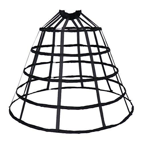 IPOTCH Crinolina Sottogonna Strato Anello Accessorio Moda Per Regalo Donna Ragazza - Nero grande, 100 cm
