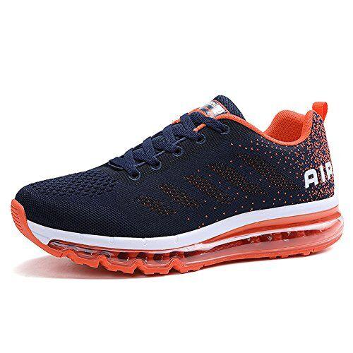 Fexkean Unisex Scarpe da Ginnastica Basse Sneakers Sportive Running Fitness Gym Shoes(833OR43)
