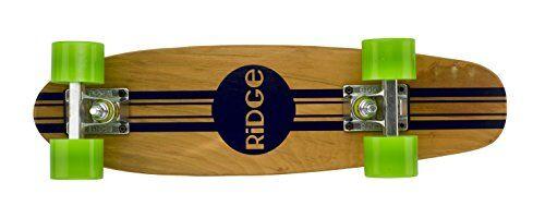 Ridge Skateboards Maple Mini Cruiser Original Skateboard, Verde