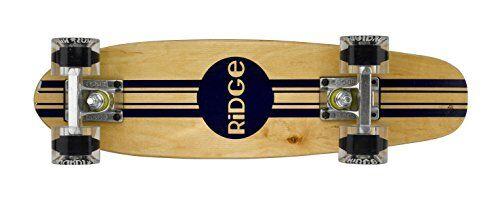 Ridge Skateboards Maple Mini Cruiser Original Skateboard, Trasparente