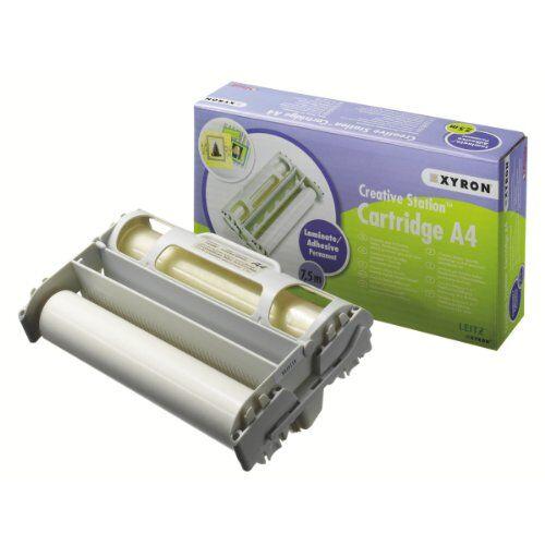 Xyron 23464 Bobine di Film in Cartuccia (165 mm, 75 mm, 0.08 mm, A4), Transparente, 1Pezzo