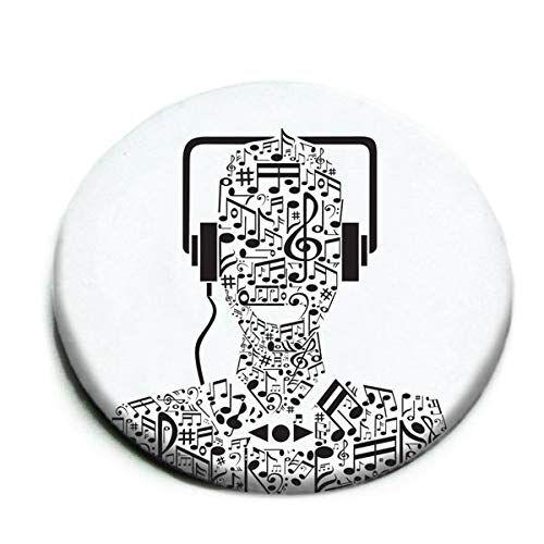 MAKENOTES MN-PIN02-01 - Spilla decorativa, collezione Music, colore: Bianco