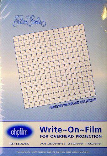 West Film Film Sales - Pellicola con superficie cancellabile, formato A4 100 mm, 50 fogli