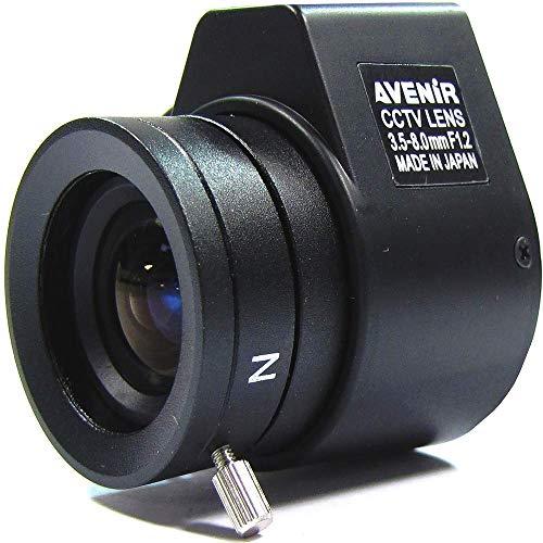 Cablematic Elettronica obiettivo varifocale 3,5 mm a 8,0 millimetri e F1 2