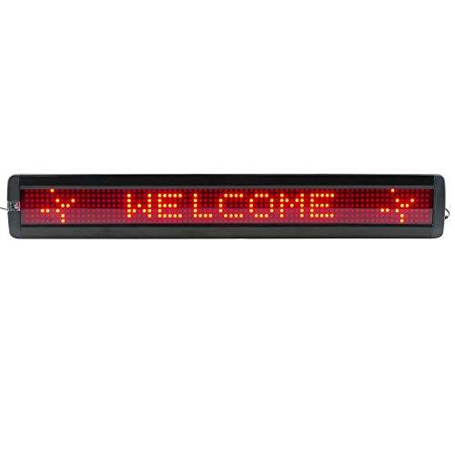 Cablematic LED elettronica segno DOT DisplayMatic di 80x7 USB rosso