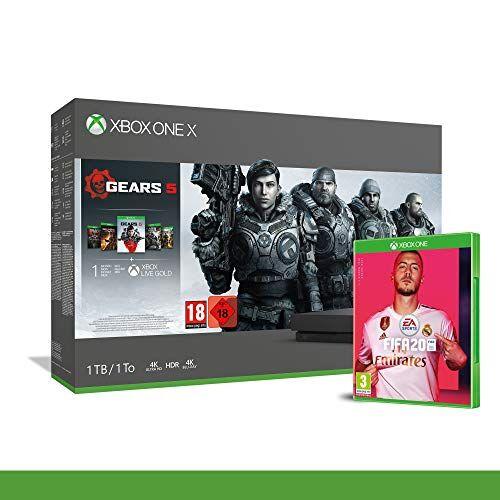 Microsoft Xbox One X 1TB - Bundle Gears of War 5 - Inclusi Gears of War 2, 3, 4 + FIFA 20