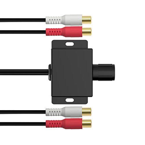 Chelink Amplificatore universale audio RCA, con manopola di controllo del livello di guadagno e del volume, per auto, moto, altoparlanti, impianti domestici