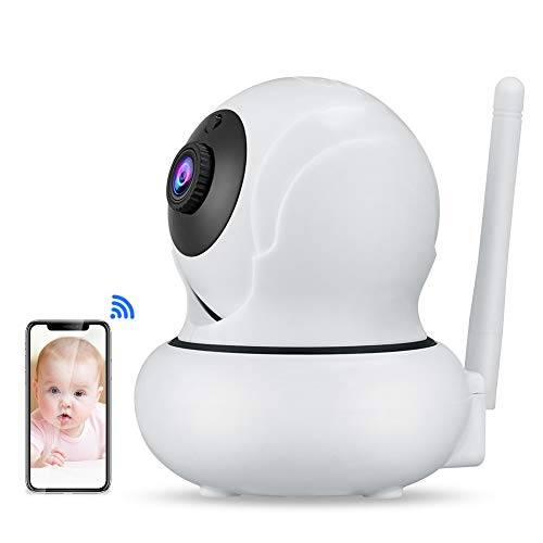 MeterMall Elettronico WANSCAM K21 HD 1080P Wireless WiFi 3X Zoom Smart Camera Face Tracking Camcorder Home Camera EU Plug
