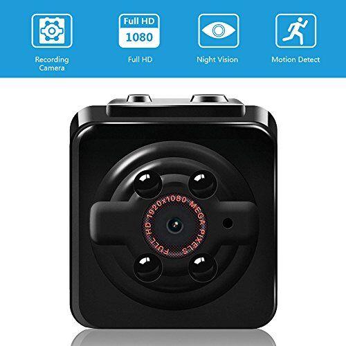 Vaxiuja Mini Cam Camera Vaxiuja 1080P Mini videocamera Full HD portatile piccola Cam Tata con visione notturna per la casa/ufficio/giardino/garage/Indoor/Outdoor Telecamera di sicurezza