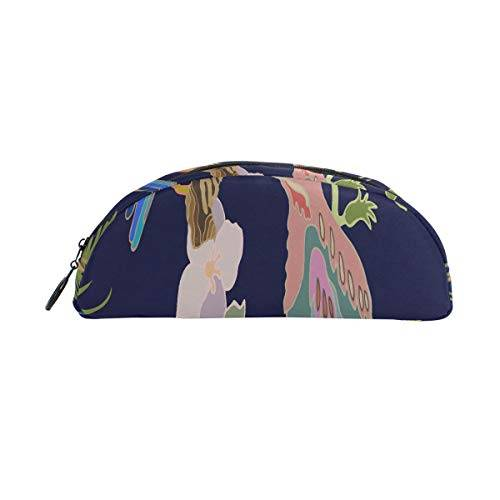 Zemivs Kawaii Giapponese Giardino Fiori E Uccelli Penna Borsa Organizer Pencil Bag Pouch Bag Zipper Piccolo sacchetto trucco Cancelleria Per studenti Classe Kids Boy Teen Girl School College Campus Regalo
