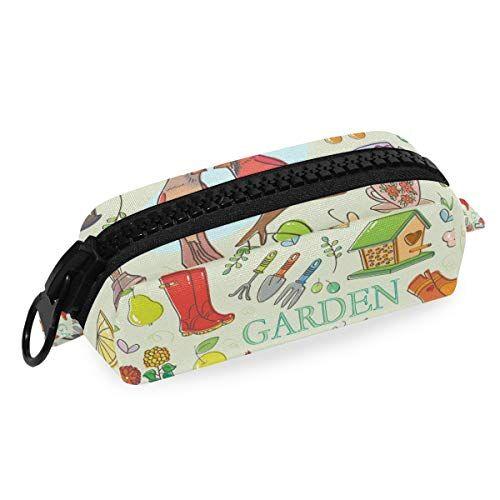 FAJRO - Set da giardinaggio per matite, cosmetici, pennelli da trucco, grande capacità con chiusura a cerniera