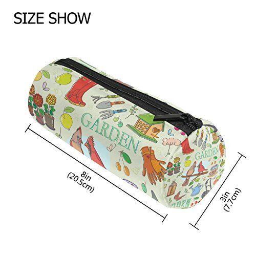 Tizorax giardinaggio set di matita penna organizzatore trucco Costmetic cerniera borsa moneta del sacchetto per le donne Teen Girls Boys Kids