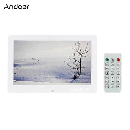 """Andoer Cornice Foto digitale Andoer 10.1 """"HD Grande Cornice LCD per Musica e Film MP3 MP4 Calendario / Sveglia con Telecomando regalo di regalo migliore per Natale,San Valentino,compleanno"""
