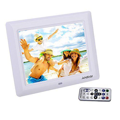 Andoer Cornice Foto Digitali Andoer 7 '' HD TFT-LCD con  Musica e Film MP3 / MP4 / Calendario / Sveglia Regalo di Natale con Remote Desktop