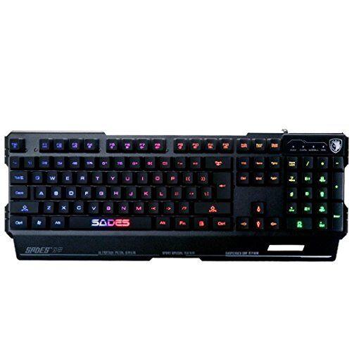 Elettronica  Informatica Tastiera Meccanica Gaming Layout Italiano, DoraMe LED Retroilluminata 104 Tasti Switches Blu Tastiera Da Gaming PC Impermeabile 3 Colori, Costruito in lamiera d'acciaio (Nero)