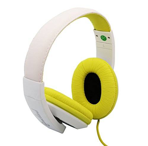 Connectland stereo Wired cuffie e microfono leggero 40 mm speaker Music Gaming elegante Teal cl-aud63035 Yellow