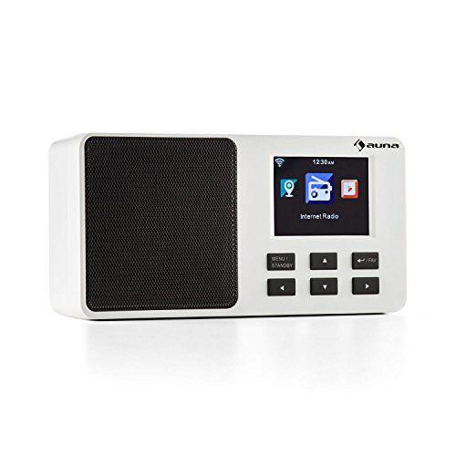 Auna 'Auna IR 110WH Internet Radio netzwerkplayer (2,4TFT Display a colori, di alimentazione e batteria di funzionamento, WiFi, slot USB), Bianco