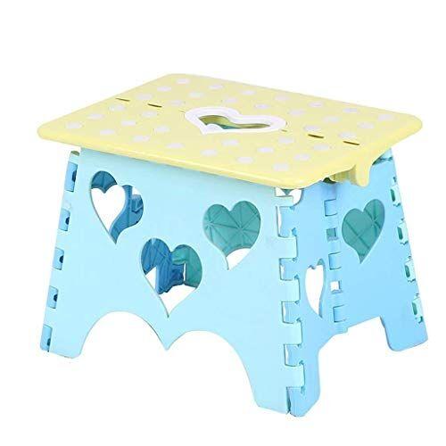 HARD Sgabello pieghevole - Sgabello pieghevole in altezza for bambini e adulti, sgabello pieghevole da bagno for giardino da cucina (Color : E)