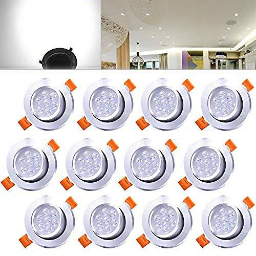 kang 12 Set 7W Faretto da incasso a LED a luce bianca fredda Faretto da incasso a soffitto nella camera da letto del soggiorno