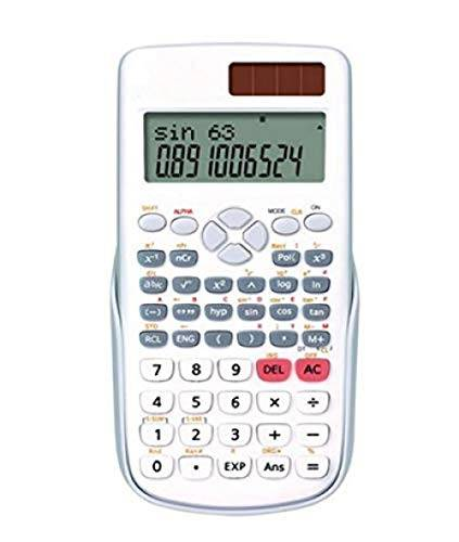 LDGR Calcolatrice Scientific Solar Calculator 12-Bit Display A Grande Schermo Funzione Di Scienza Informatica Studente Dual Power Si Spegne Automaticamente