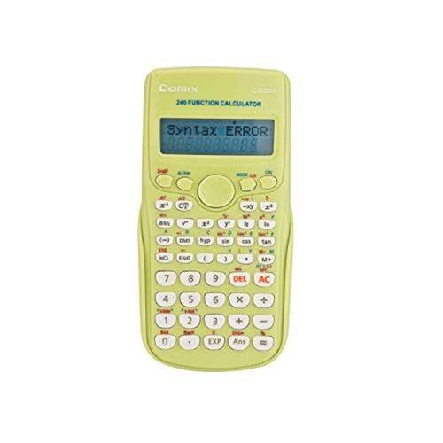SFFSMD Calcolatrice, Di Modo Funzione Calcolatrice 240 Kinds Of Funzionale Informatica (per Junior Studenti Delle Scuole Superiori) Verde, Grigio (Color : Green)