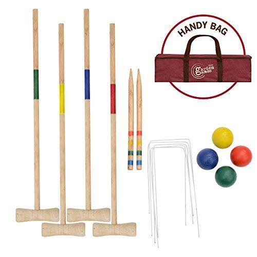 Toyrific Garden Games Garden Games Set da Croquet in Legno