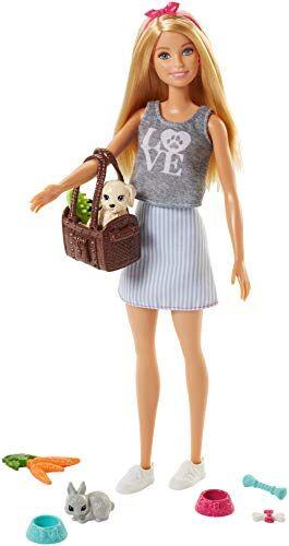 Barbie- Bambola con Cuccioli Giocattolo per Bambini 3+ Anni, FPR48