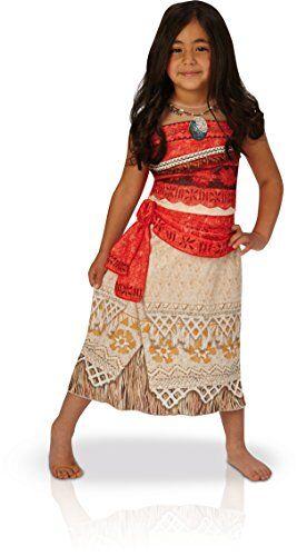 "Rubie's IT630511-L - Costume Vaiana ""Classic"" Dal Film Disney Oceania - Taglia L Large Bambina 7-8 anni"
