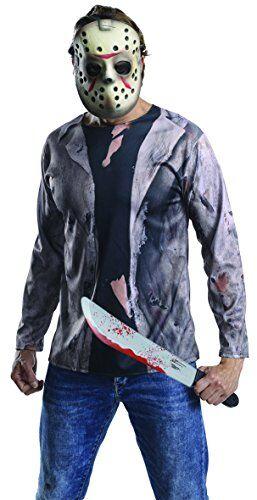 Rubie's, costume ufficiale di Jason Voorhees del film Venerdì 13, kit da adulto, taglia unica