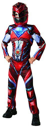 Rubie's, prodotto ufficiale, costume per bambino da Red ranger versione deluxe, dal film Power Rangers